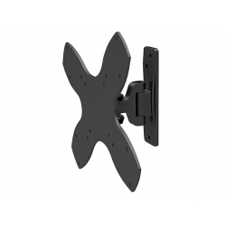 2-Way Adjustable Tilt & Swivel Wall Mount Bracket (Max 44 lbs, 17~37 inch) - Black FREE SHIPPING
