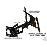"UNIVERSAL UADD-UNIV Dual Arm (32"" extension) Articulating mount 40"" to 90"" FREE SHIPPING"
