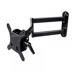 Adjustable Tilting/Swiveling Wall Mount Bracket for LCD LED  (Max 30 lbs, 10~24 inch) FREE SHIPPING