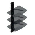 Universalmounts 3 Shelf System with Glass [ER-30G] FREE SHIPPING