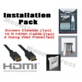 Install Kit-101 (10ft Hdmi cable, TV Cleaner, 2 gang plate) FREE SHIPPING