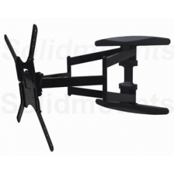 "UNIVERSAL SW-400B DUAL ARM Low profile 1.69"" Articulating Tv Mount, 125 lbs load, 32""-60"" FREE SHIPPING"