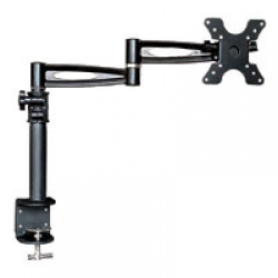 3 Way Adjustable Tilting Desk Mount Bracket for LCD LED (Max 33Lbs, 10~25inch) - Black