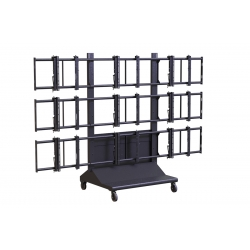 Premier Mounts MVWC-3X3 3x3 Mobile Video Wall Cart - MVWC-3X3 FREE SHIPPING.