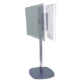 "PREMIER MOUNTS Dual back to back display floor stand, 84"" chrome (PSD-CS84) FREE SHIPPING."