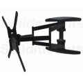 """UNIVERSAL SW-400B DUAL ARM Low profile 1.69"""" Articulating Tv Mount, 125 lbs load, 32""""-60"""" FREE SHIPPING"""