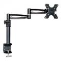 3 Way Adjustable Tilting Desk Mount Bracket for LCD LED (Max 33Lbs, 10~25inch) - Black
